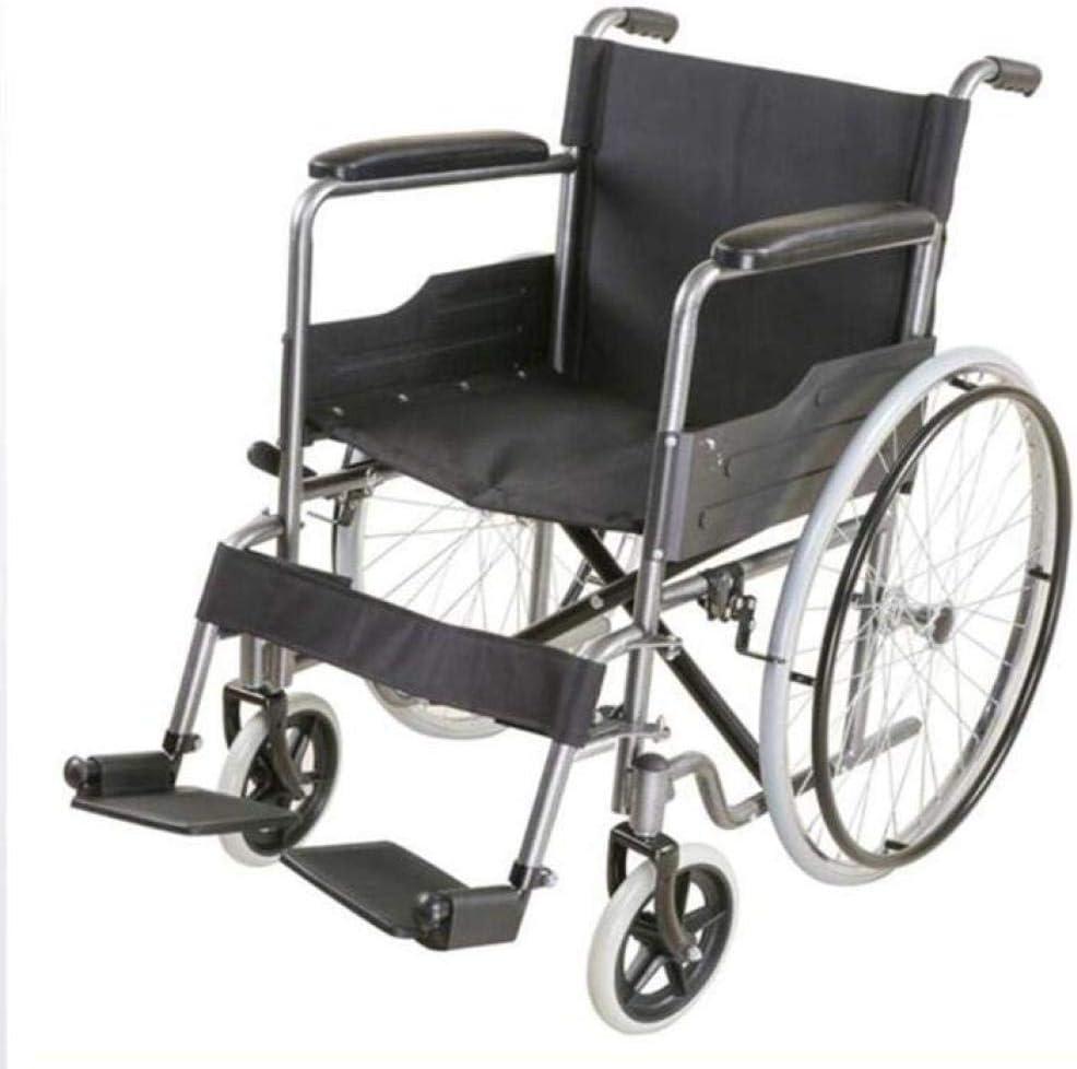 TWL LTD-Wheelchairs Silla de Ruedas Plegable Qwe Conducción Médica, Ligera Scooter Antiguo de Acero Silla de Ruedas Manual Bicicleta de Acero Al Carbono
