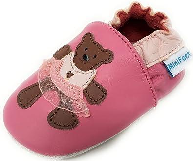 0a7c60bbb6bb34 MiniFeet Premium Weiche Leder Babyschuhe