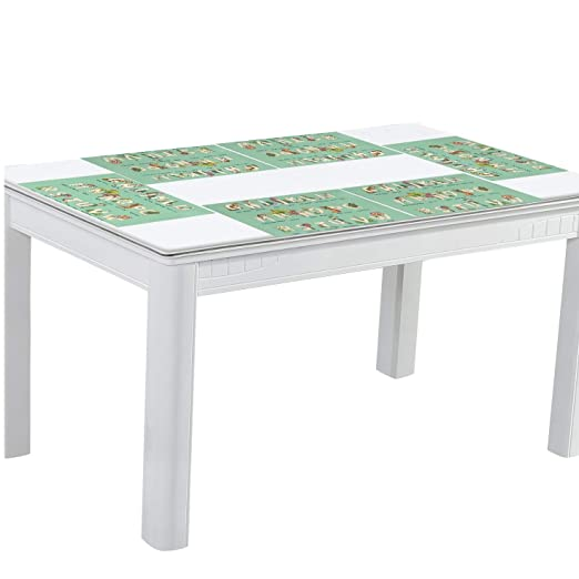 Amazon.com: DEZIRO 26 Animal Alphabets Pattern Dining Table ...