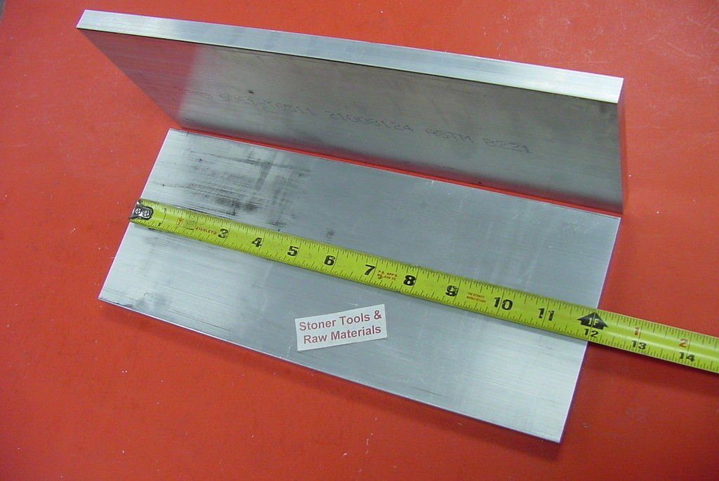 This is Extruded bar not Sanded or Polished and May Have Scratches from handling. 2 Pieces 1//2 X 6 Aluminum 6061 Flat BAR 12 Long .07//-0 Extruded Plate Mill Stock Solid