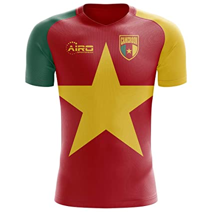 Image Unavailable. Image not available for. Color  Airo Sportswear 2018-2019  Cameroon Flag Concept Football Soccer T-Shirt Jersey ... 3ce4d76f6