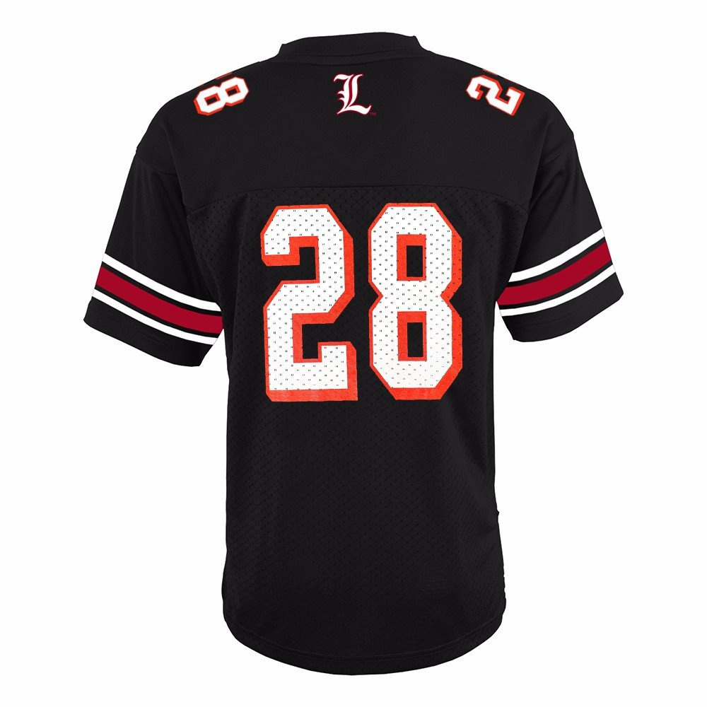reputable site 982a4 d9c06 Amazon.com   adidas Louisville Cardinals NCAA Black Official 3rd Color  28 Replica  Football Jersey Youth   Sports   Outdoors