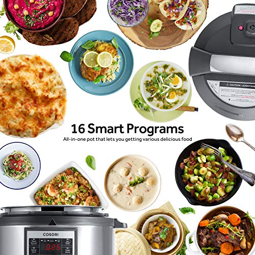 COSORI Upgraded 6 Quart 9-in-1 Programmable Pressure Cooker with 16 Built-In Programs, Stainless Steel Pot & All Cooking Essentials, Slow Cooker,Rice Cooker,Steamer,Sauté,Yogurt Maker,Hot Pot & Warmer by COSORI (Image #3)'