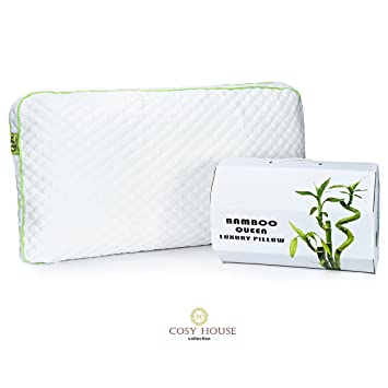 cosy house collection shredded memory foam bamboo queen pillow with cover
