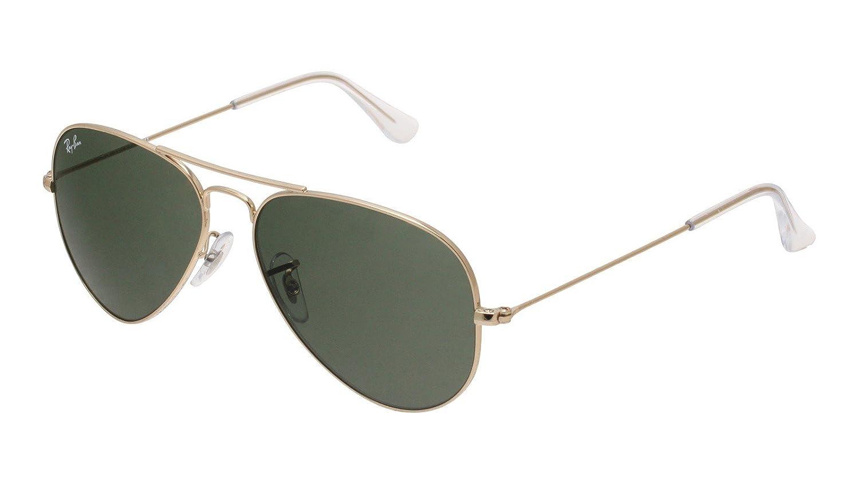 9ef8193d84643 Amazon.com  Ray Ban RB3025 W3234 55mm Gold w  Green Lens Aviator Sunglasses   Shoes