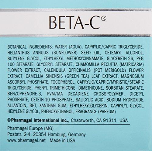 Pharmagel Beta-C Dual Action Moisturizer Normal to Oily Skin   Brightening and Smoothing Face Moisturizer   Pore Minimizer & Rejuvenation - 2 oz