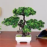 EDTara Desktop decoration,Artificial Pine Bonsai Creative Simulation Tree Plant Home,Double layer