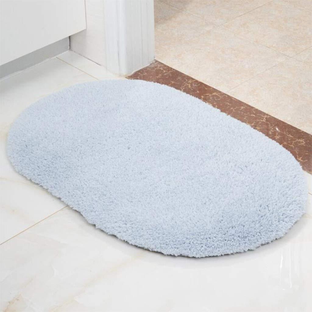 Non Skid Washable Doormat Bath Mat Rectangle Superior Quality Carpet Luxurious Faux Lamb Plush (Color : Blue, Size : 60x120cm)