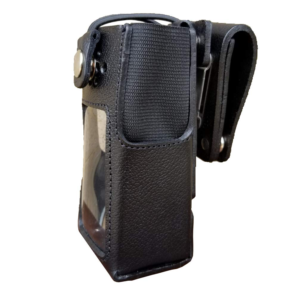 Case Guys MR8555-3BW Hard Leather Swivel Belt Loop Holster Case with Bungee Cord for Motorola XPR 7550 XPR 7580e Two Way Radios