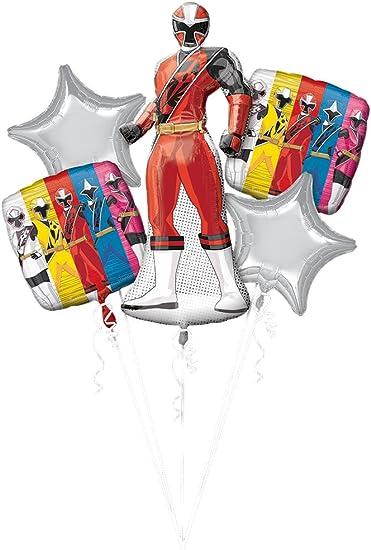 Anagram 86182 BOUQUET POWER RANGER NINJA STEEL, One size, Red