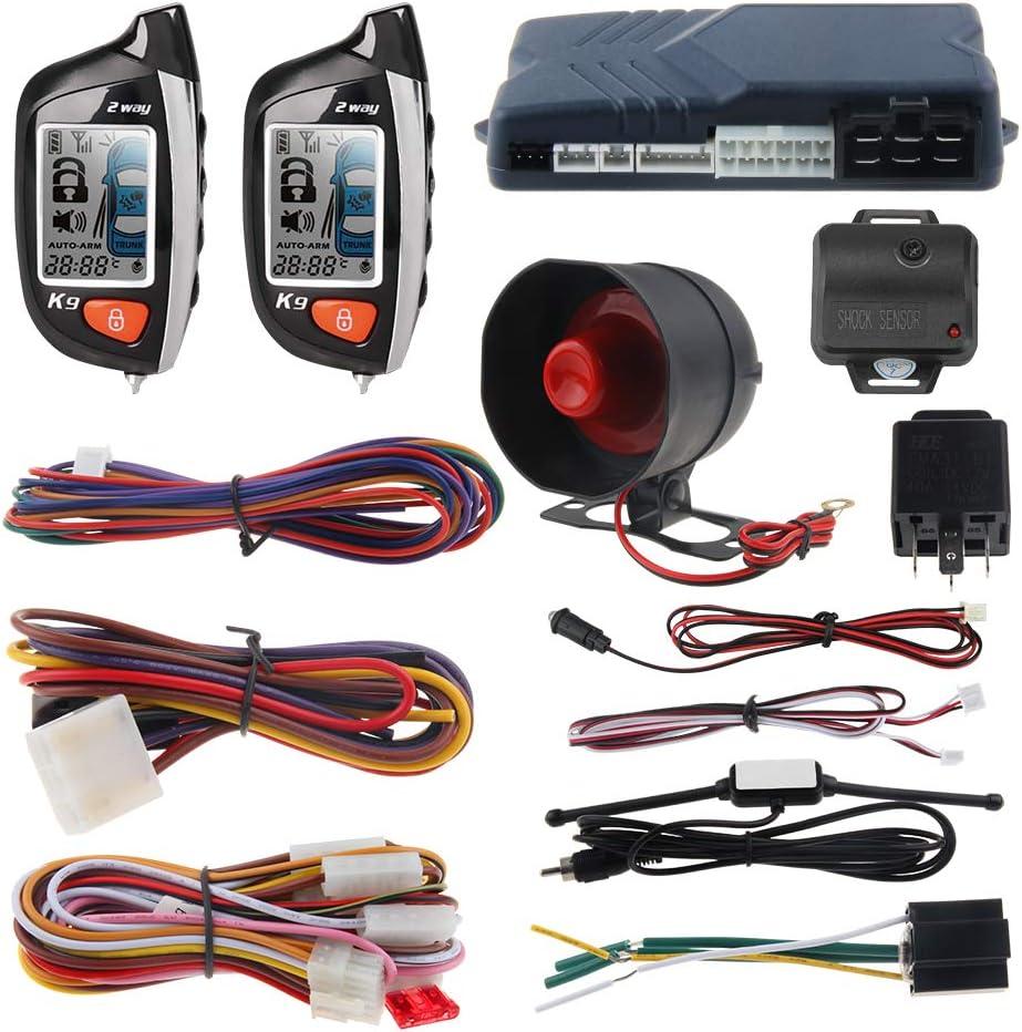 crime guard car alarm wiring diagram amazon com easyguard ec200 k9 2 way car alarm system with lcd  easyguard ec200 k9 2 way car alarm