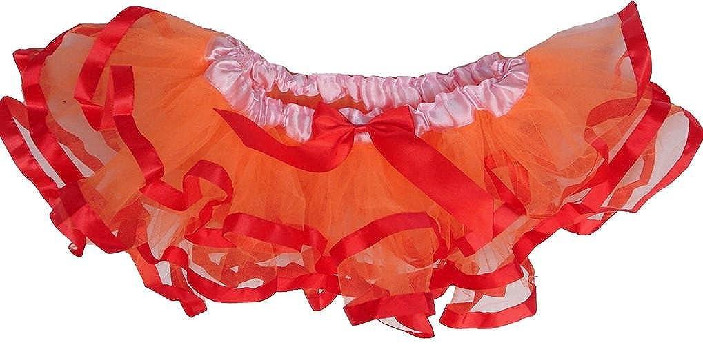 wenchoice Girls Orange Tutu with Orange Ribbon Trim/�