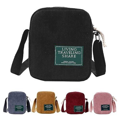 f43d7c48d67c AuSion Small Corduroy Crossbody Bag Cell Phone Purse Shoulder Messenger  Handbags for Women Girl Outdoor Travel