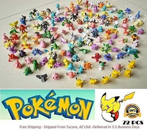 New 2017 Release Pokemon 144 Pieces Mini Figure Pokemon Action Figures Mini Plastic Figures Randomly Small Size Gift, 144-Piece, 2-3 cm
