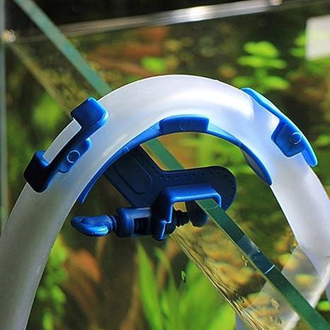 Soporte para manguera de FAVOLOOK sin deslizamiento ajustable para acuario, depósito de peces, filtración