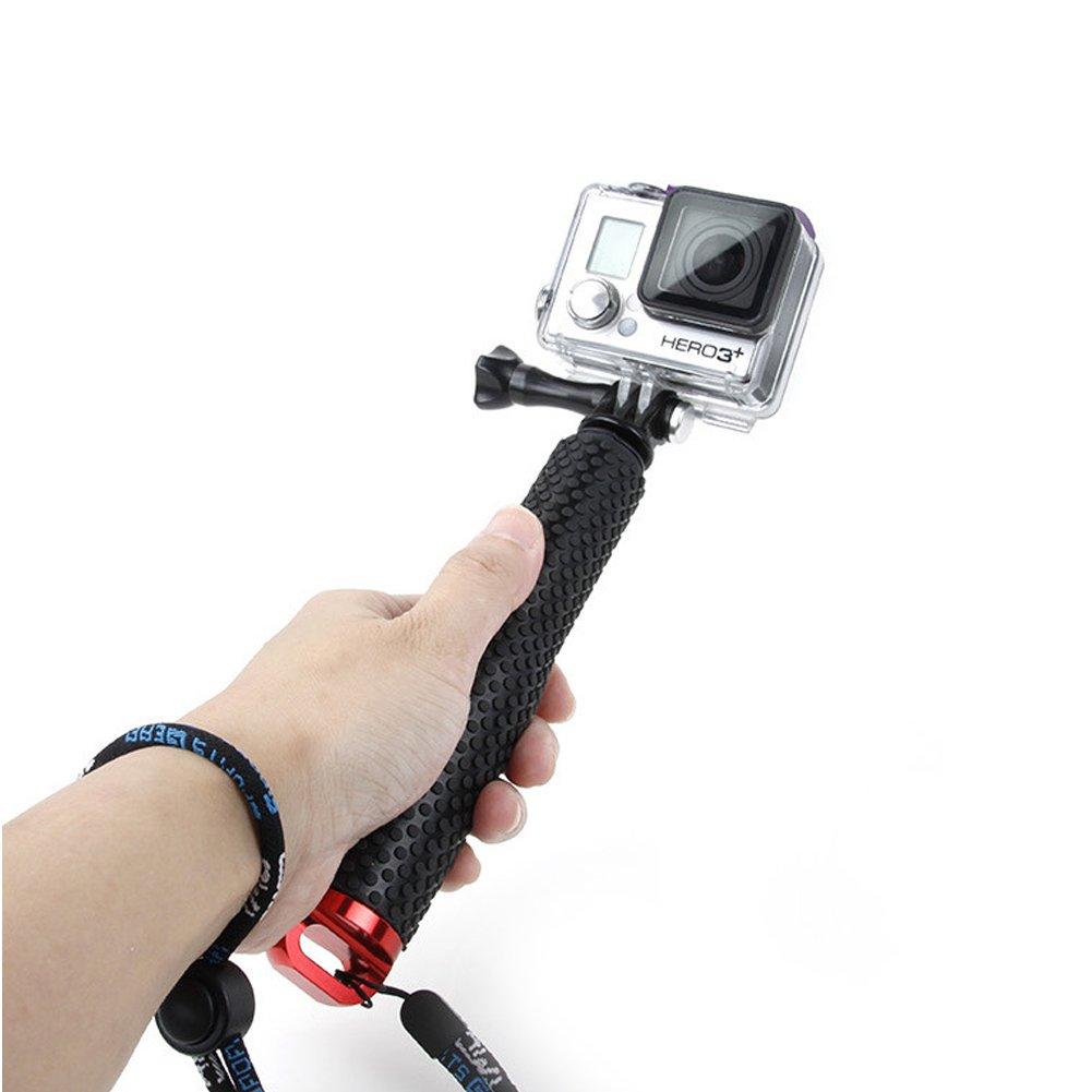 Universel Extensible Perche /à Selfie Monopode Porte-pince pour GOPRO Cam/éra de Sport B/âton Selfie Tenu /à la main Extensible Aluminium Alliage Selfie B/âton bleu