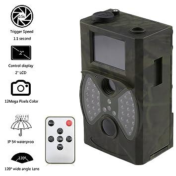 leshp Wild Cámara Caza Cámara 12 MP Dual infrarrojos COMS Vigilancia Visión Nocturna 20 m