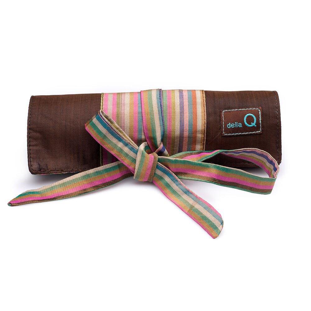 della Q Crochet Roll for Crochet Hooks (Sizes A to N) 016 Brown Stripes 168-2-016
