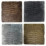 Studio Vertu Crocodile Print Marble Coasters, Set