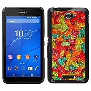 Stuss Case / Funda Carcasa protectora - Couleurs de bonbons Bonbons alimentaires - Sony Xperia E4