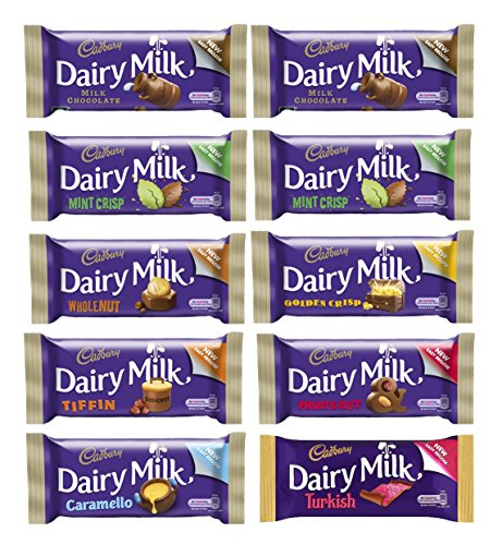 Cadburys Golden Crisp (Dolmen County Bundle 10 Bar Bundle (10 x Cadbury Dairy Milk Bars) 8 flavours)