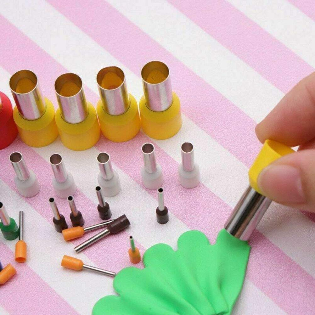 Clay Cutters,40PCS//Set Steel+Plastic Indentation Round Circle Shape Cutters Mold Ceramics Dotting Tools for Polymer Clay Pottery with Storage Box