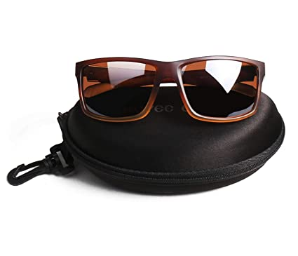 f77635d186a Hoyee Eyes Men Polarized Aluminum UV protection Sunglasses Brown