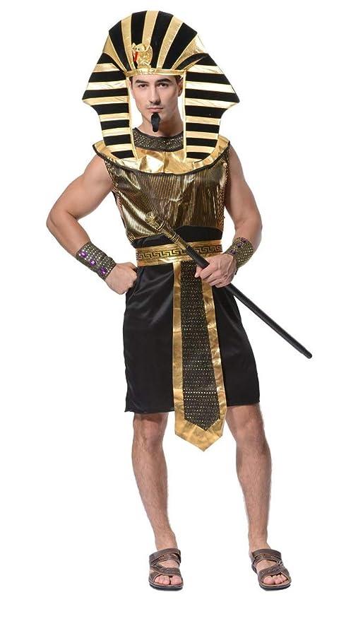Lovelegis Taglia Unica - Costume da Egiziano Sacerdote Faraone Tutankhamon  Travestimento Carnevale Halloween Cosplay Accessori - 5f4c7387c63