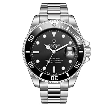 Tevise Men Mechanical Automatic Role Date Submariner Clock