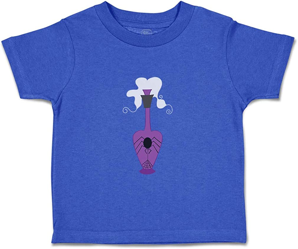Custom Baby /& Toddler T-Shirt Poison Jar Spider Purple Cotton Boy Girl Clothes