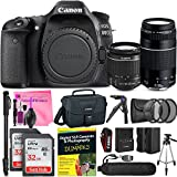 Canon EOS 80D DSLR Camera Advanced Photo and Travel Bundle + Canon EF-S 18-55mm f3.5-5.6 IS II + Canon EF 75-300mm f4-5.6 III Lenses + Camera Works Starter Kit