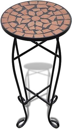 Nero e Bianco Stile Shabby Chic Tidyard Piante Display Stand in Metallo Espositore per Mosaico