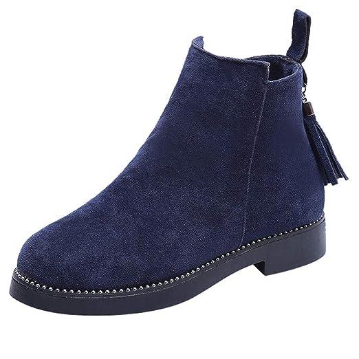 POLPqeD Botines Mujer Botas Mujer Botines Mujer Invierno Botines Vestir Mujer Invierno Zapatos de Gamuza Botines Invierno Mujer 2018 Botines con Hebillas ...