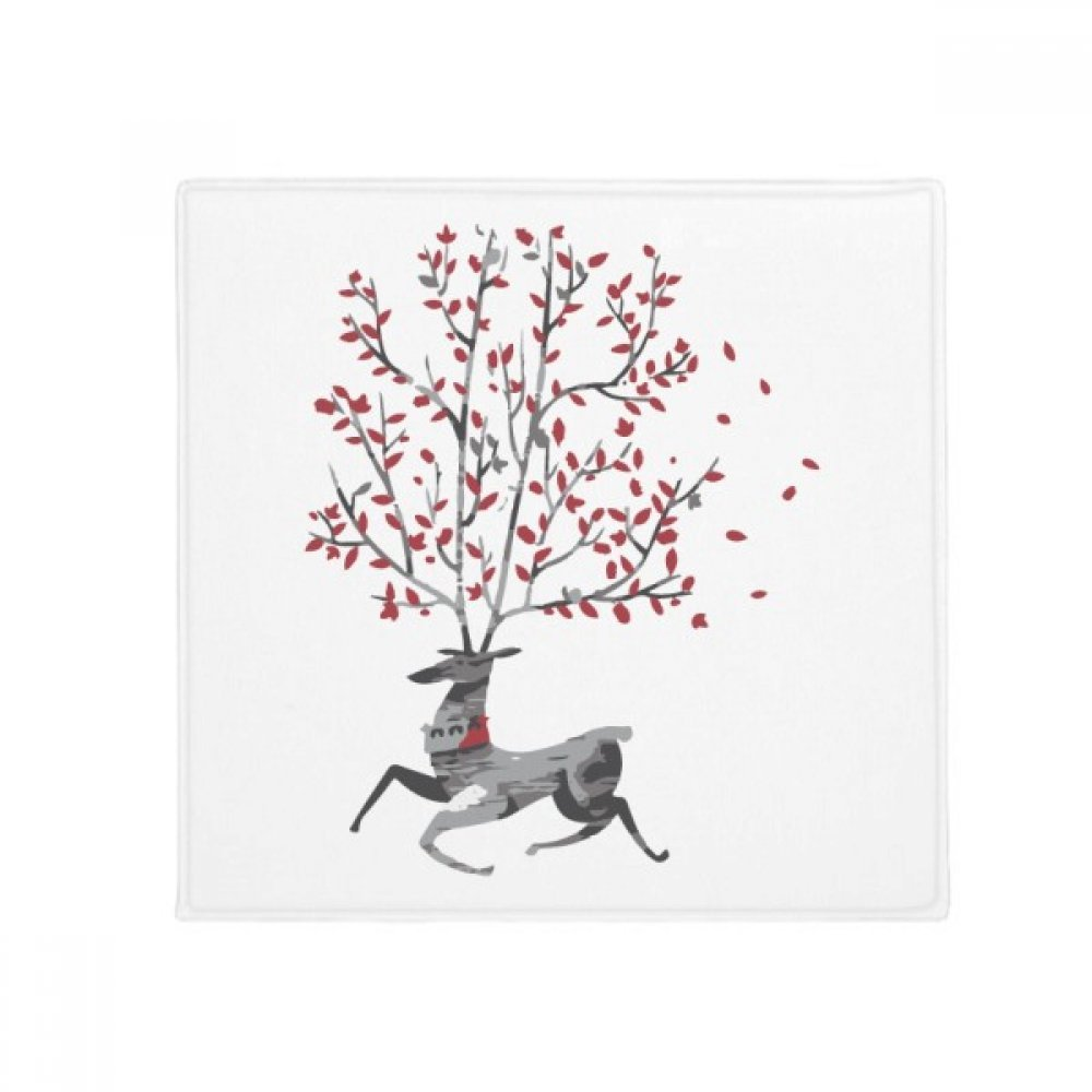 DIYthinker Reindeer Christmas Artistic Effect Hand-Painted Anti-Slip Floor Pet Mat Square Home Kitchen Door 80Cm Gift