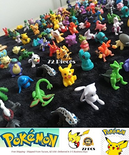Pokemon Mini Action Figures 72 Pcs Set Pokemon Monster Toys Set by JUSTINE
