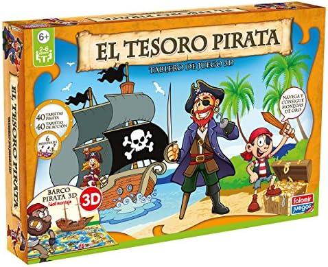 Falomir - El Tesoro Pirata, Juego de Mesa (25006): Amazon.es: Juguetes y juegos