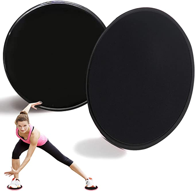 Full Body Workout and Abdominal Perfect for Use on Carpet or Hard Floors DAYOLY 1 Pair Exercise Sliders Smooth Sliding Slider with Comfortable Top
