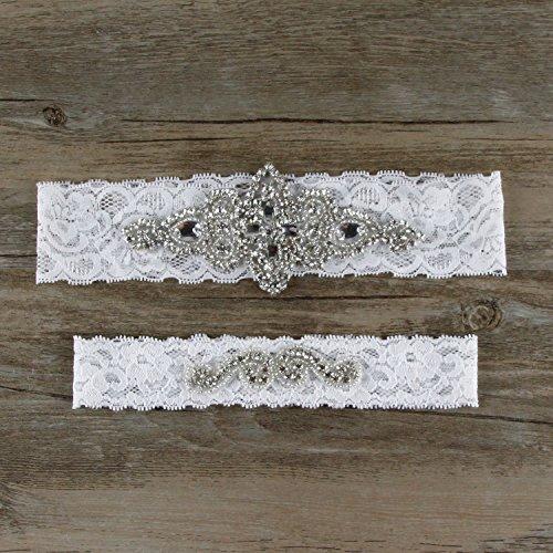 Vintage Lace Wedding Garter Set: Samfly Women's Wedding Bridal Lace Garter Set Keepsake