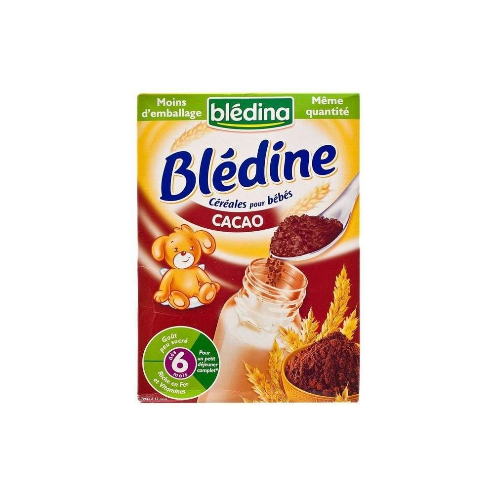 Bledina Bledine Cereals for Baby Cocoa Flavour 6mth+ (500g) by Bledina