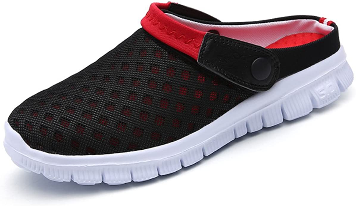 Femmes Hommes Sabots Mules Respirant Chaussures de Jardin Perfor/és-Sabot de Plage Sport Pantoufles Piscine Sandales D/Ét/é Chaussures