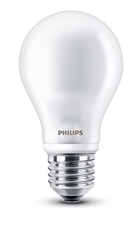 Philips LED, Bombilla LED estandar mate, 7W (60 W), casquillo gordo E27, Blanco cálido