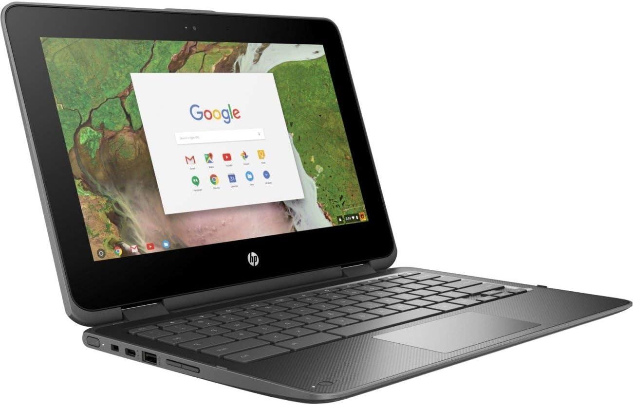 "HP 1NW59UT#ABA 11.6"" Chromebook X360 11 G1, Intel Celeron 1.1 Ghz, 4 GB Ram, 32 GB SSD, Gray"