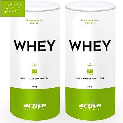 PROTEINVITAL 100% Bio Whey - 1000g suero dulce de polvo proteinico 100% natural de