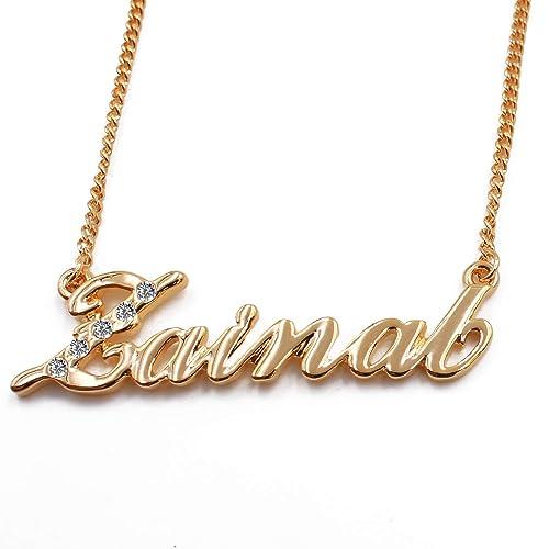 Amazon.com: Nombre árabe collares zainab – Collar ...
