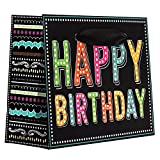 Jillson Roberts 12-Count Tiny Tote 5'' x 4'' x 2''  Birthday Gift Bags Available in 4 Designs, Birthday Chalk
