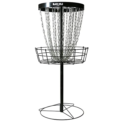 MVP Black Hole Pro 24-Chain Portable Disc Golf Basket Target