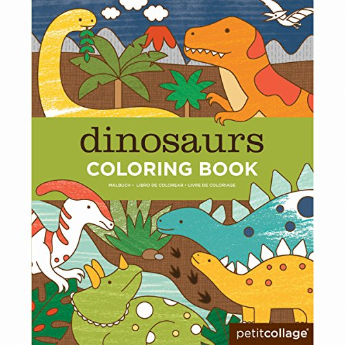 Petit Collage Coloring Book Dinosaurs product image