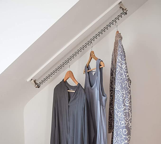 Zebedee® Waterfall Clothes Hanging Rail Rack. Storage For Sloping Angled Ceilings (900 mm): Amazon.co.uk: Kitchen & Home