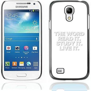 iKiki-Tech Estuche rígido para Samsung Galaxy S4 Mini – The Word – Read It Study It Live It: Amazon.es: Electrónica