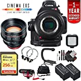 Canon EOS C100 Mark II Cinema Camera Body Only + 128GB Extreme SD Card Base Kit w/85mm Cinema International Version -  6Ave